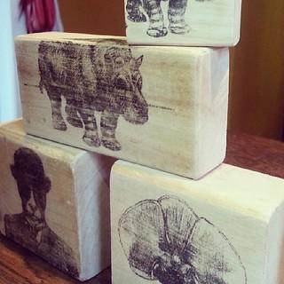 art blocks waiting for paint and varnish #art #wood # print #iron