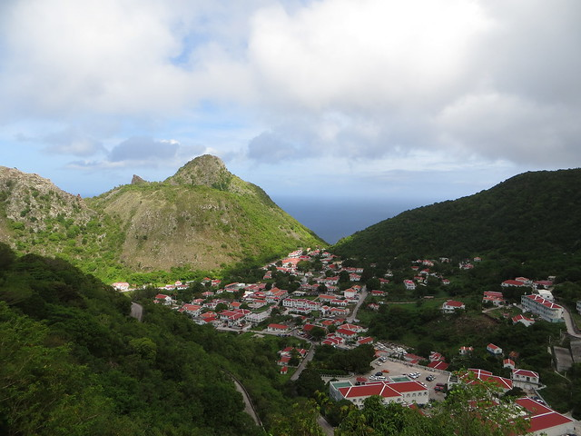 The hill known as Moby Dick, Saba.
