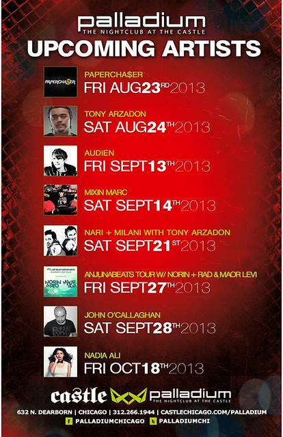 Upcoming Events @ Palladium Nightclub