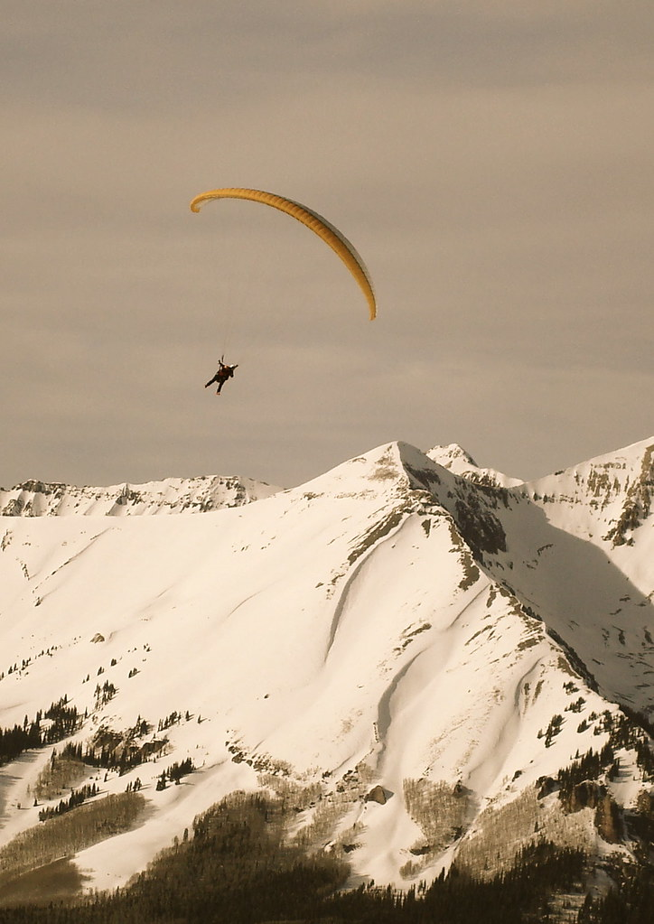 some times we paraglide in the winter