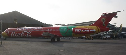 OY-RUE MD80 Danish Air Transport with FIFA Titles