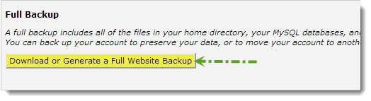How to backup wordpress database and files