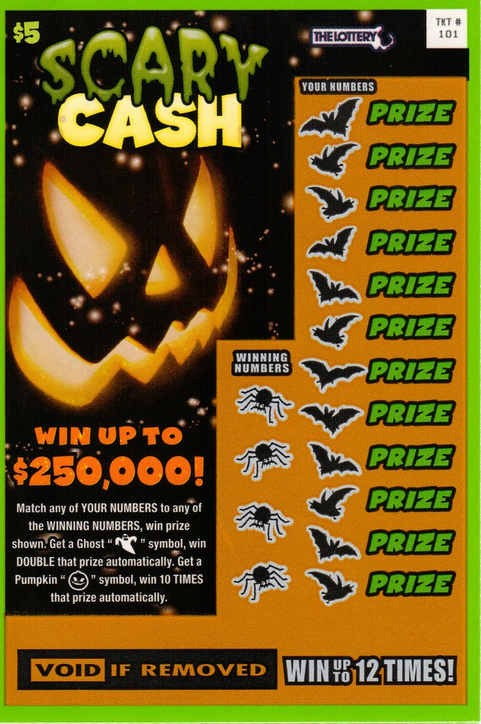 Massachusetts 2013 Halloween lottery ticket