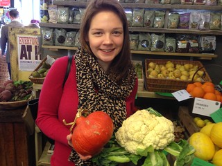 Massive Cauliflower and Pumpkin