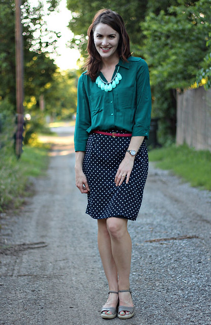 polka-dot-skirt,-teal-shirt-2