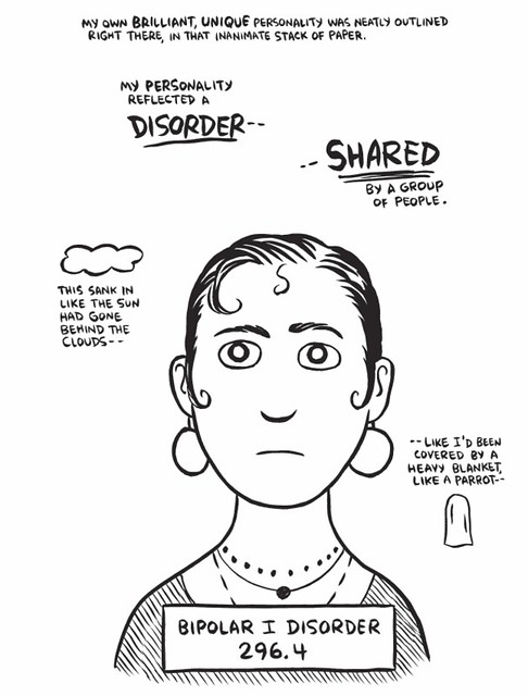 Page from graphic memoir Marbles by Ellen Forney