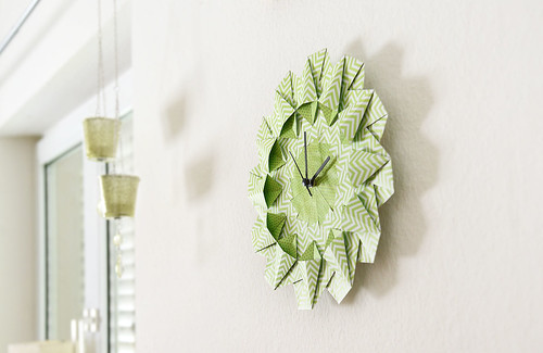 Origami Wall Clock by S.CHICK