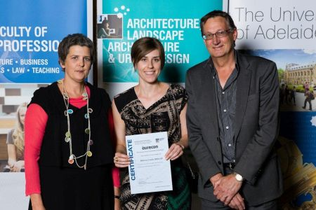 2011 Winner: Rebecca Millar Presented by Mr Andrew Russell (Unit Manager Environment & Advisory Adelaide) & Ms Tanya Court (Acting Head of School)