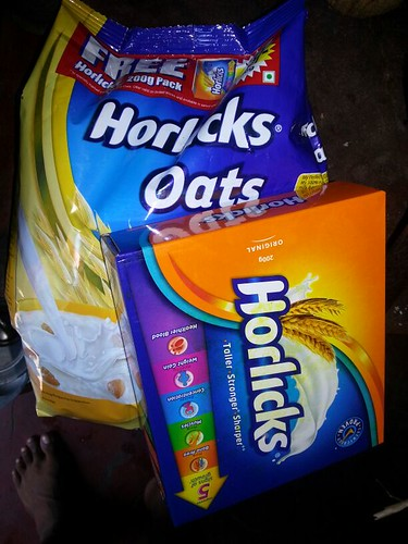 Horlicks is a famous brand of malted oat drink sold in Kerala