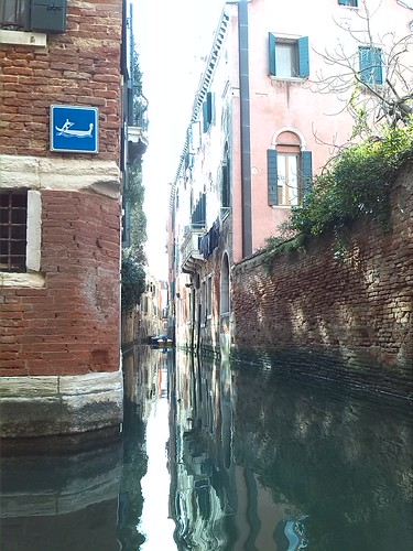 This photo was taken on a gondola ride through Venice. The water was not very clean, but the sights were beautiful!