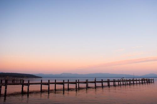 california pink sunset lake water still jetty nevada wharf mauve zephyrcove southtahoe