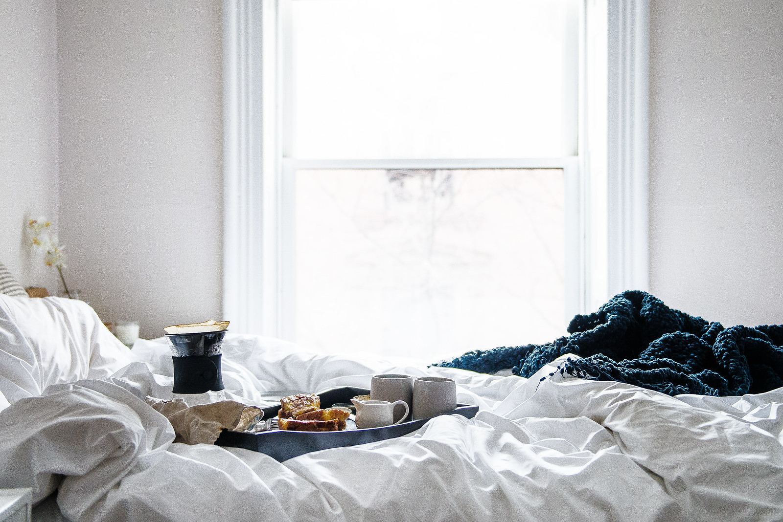 breakfast in bed // savory stuffed french toast