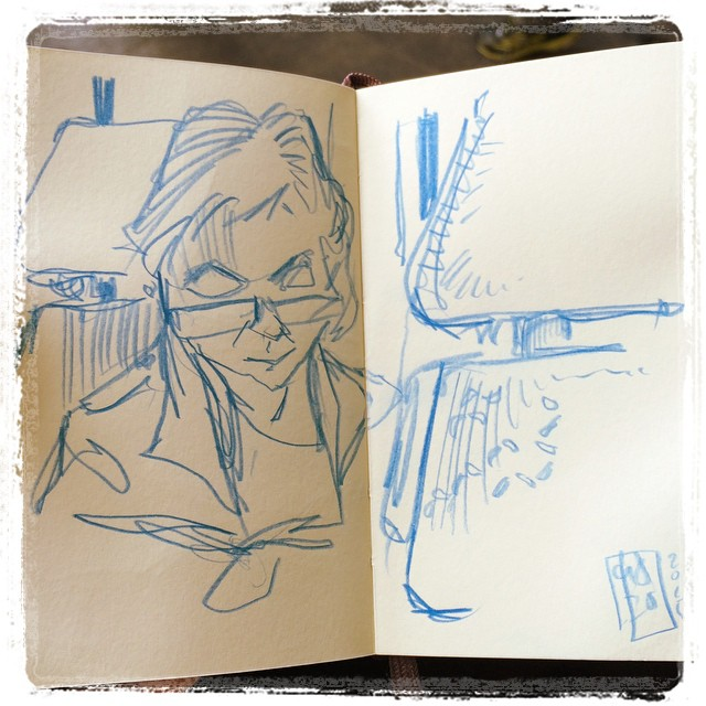 #train #urbansketch #colerase #portrait