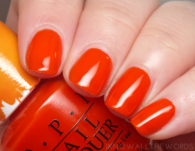 opi colour paints chromatic orange