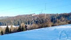 Snowboarding down the Larmont to Pontarlier