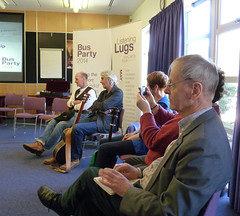 Neal Ascherson at Bus Party event at the University of Stirling, April 2015
