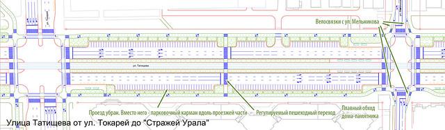Предлагаемые улучшения на участке между Токарей и Мельникова