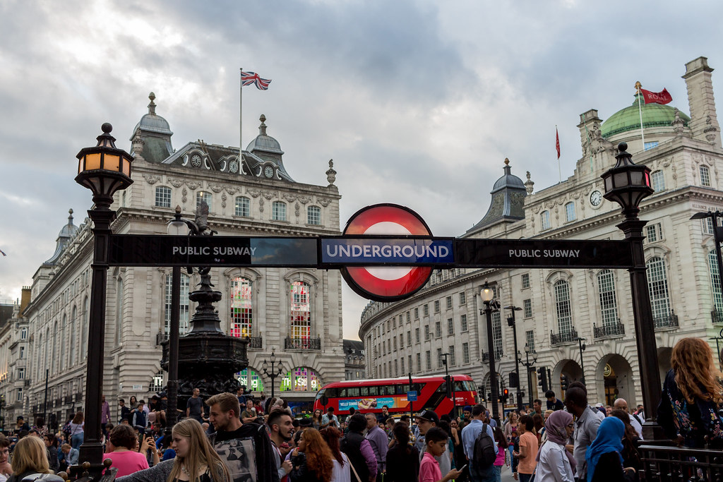 Underground station at Picadilly Circus