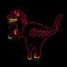 neon dinosaur - SoHo NYC