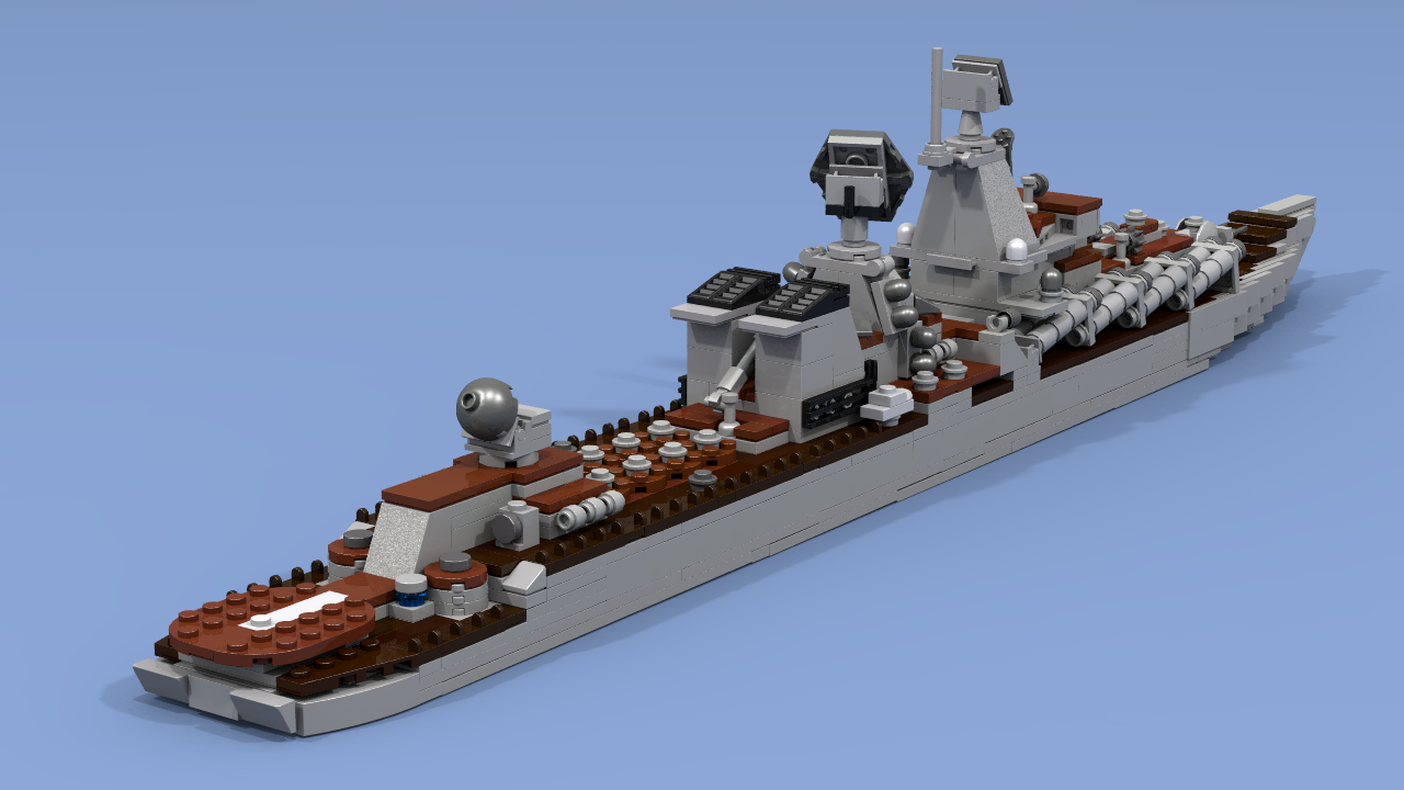 In The Photo  Large Asw Ship Pr1134b, Intermediate Project 1134bf With  Installed Sam