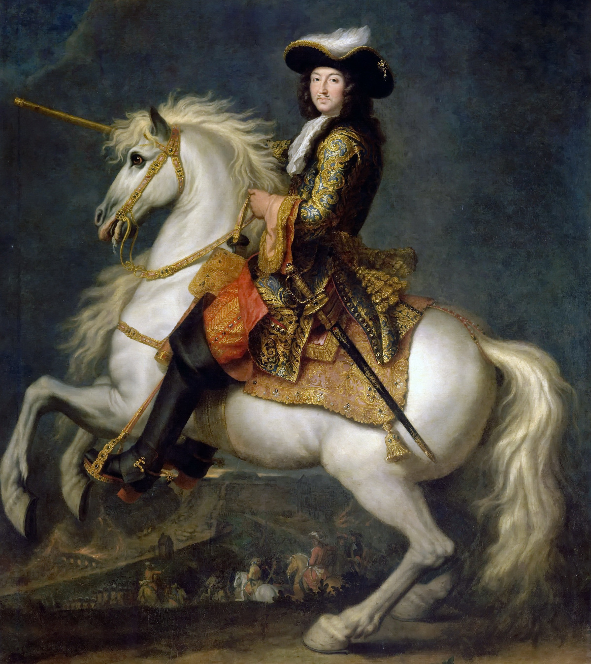 Equestrian portrait of Louis XIV of France by René-Antoine Houasse, c.1670