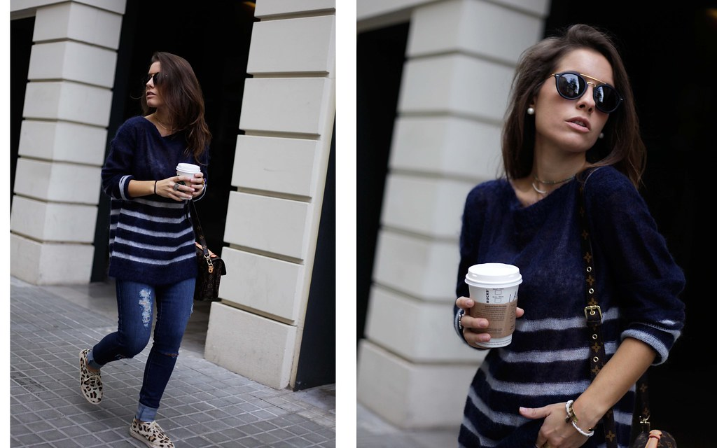 012_CASUAL_OUTFIT_LEOPARD_AND_STRIPES_BLOGGER_BARCELONA_THEGUESTGIRL