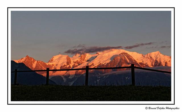 Le Mont Blanc en fin d'après-midi