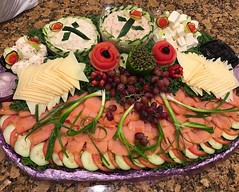What an awesome lox platter we are having for breakfast today. #reunion #36years