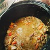 Green chile stew in the crock pot.