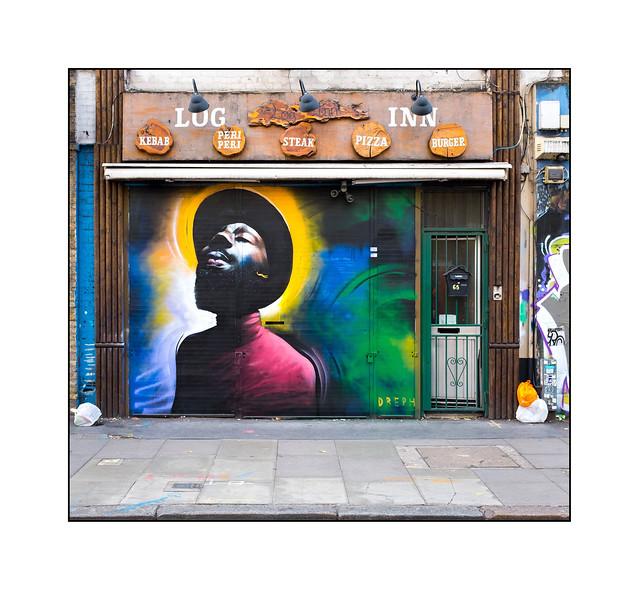 Street Art (Dreph), East London, England.