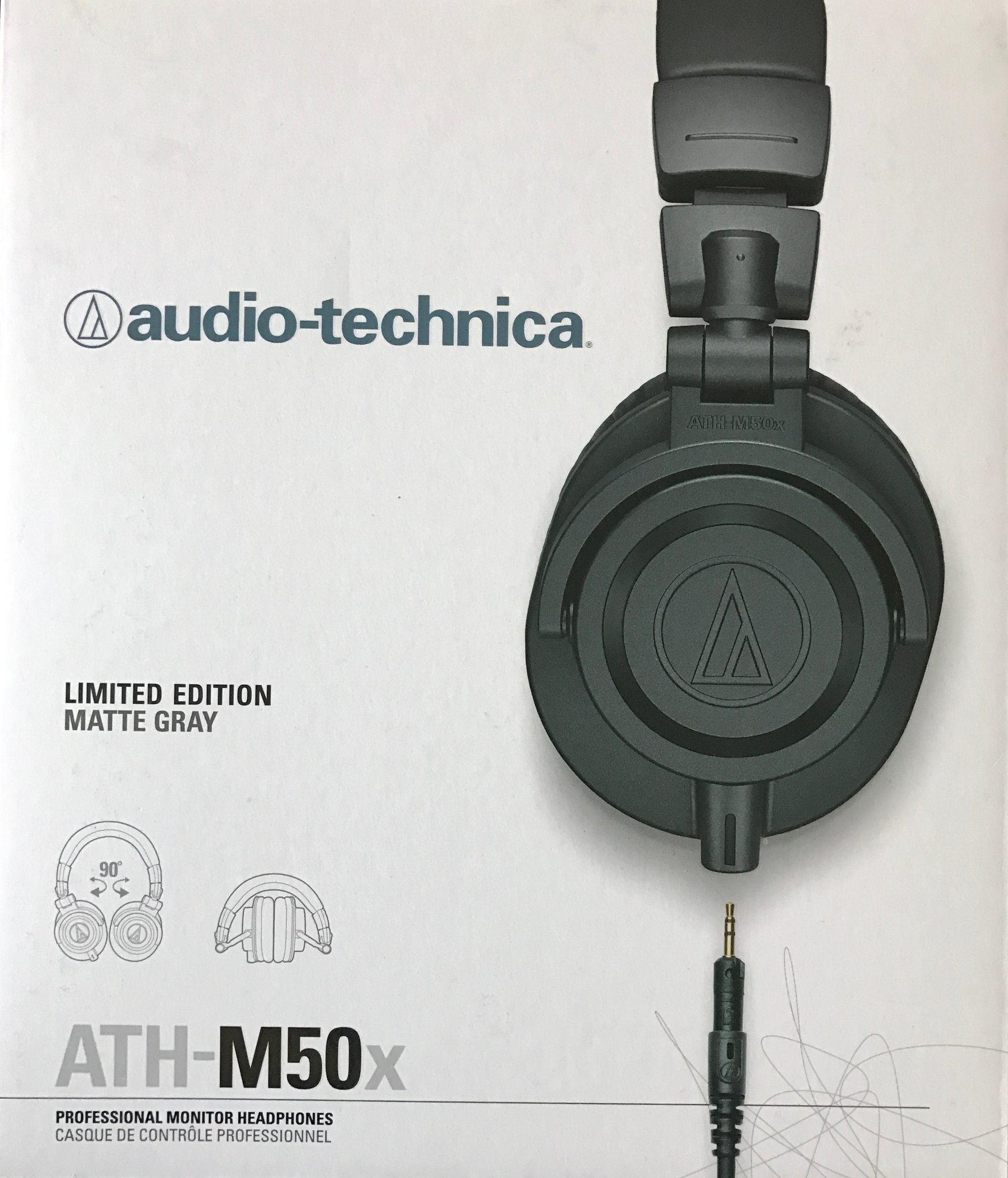 Audio Technica ATH-M50x Matte Gray Limited Edition