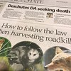 You know you live in #Oregon when there's an article in the local paper on how to eat roadkill.