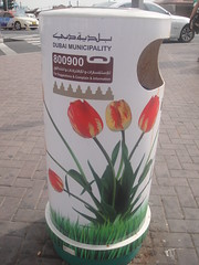 Smart waste bins decorating Dubai streets