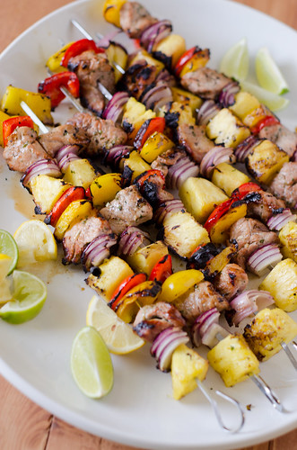 Grilled Pork Kebabs with Southeast Asian Marinade