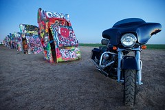 Street Glide at The Cadillac Ranch