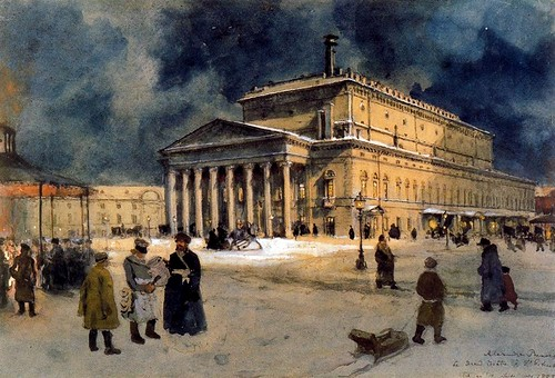 Benois, Alexandr (1870-1960) - 1939 The Bolshoi Theater in St. Petersburg in 1885 (Private Collection) by RasMarley
