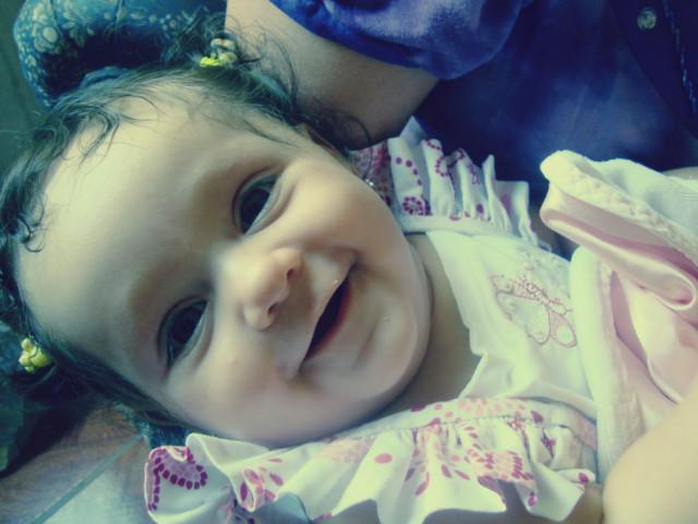 Primeiro sorriso que a tia consegue registrar!!!Larissa com 5 meses