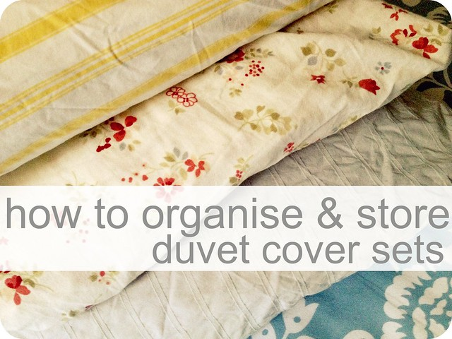 how to organise & store duvet cover sets