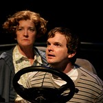 Brendan (Dashiell Eaves) confronts his ever-present mother (Nancy E. Carroll) in the Huntington Theatre Company's production of the new play by Ronan Noone performed at the Calderwood Pavilion. Part of the 2007-2008 Season. Photo: T Charles Erickson