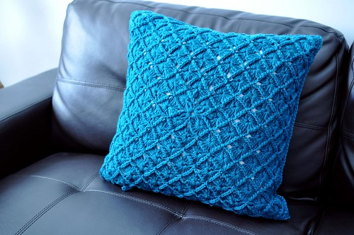 fun crochet cushion cover