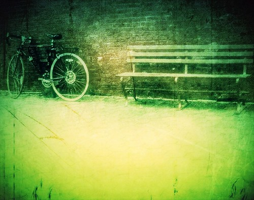 Bike and bench