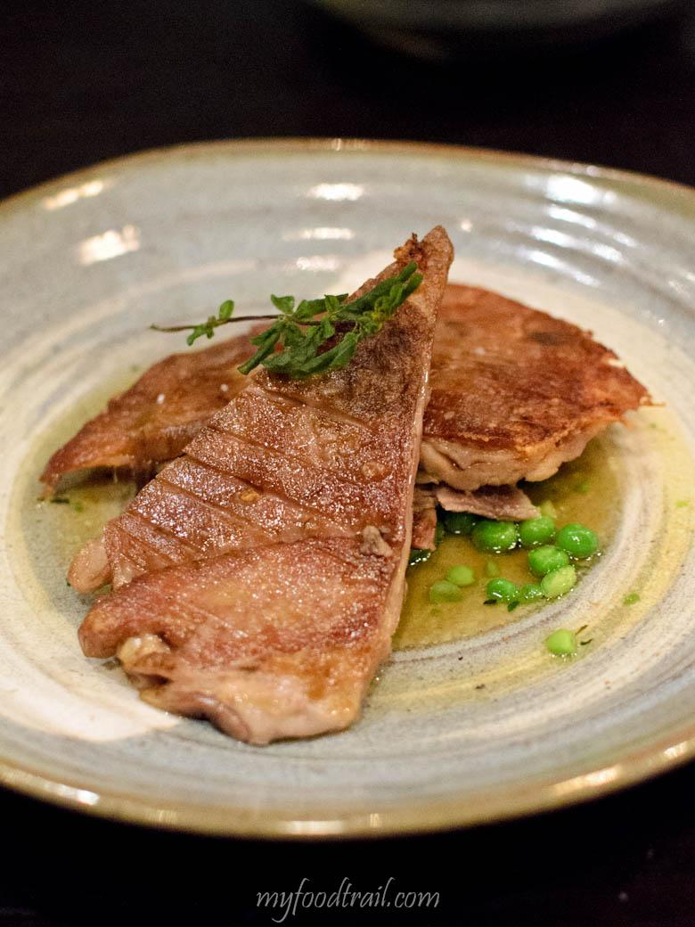 Mr Hive Kitchen & Bar - Saltbush lamb belly, peas & mint $30