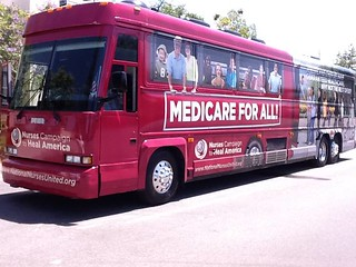 Health reform bus tour stops in Santa Ana today