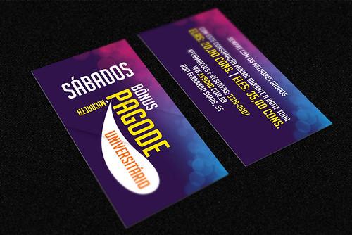 Cartão - Pagode universitário by chambe.com.br