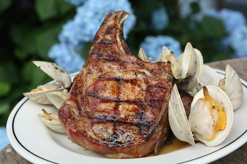 Grilled Pork and Clams