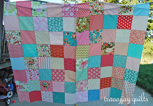 Scarlet's patchwork curtains WIP