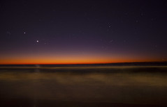 [フリー画像素材] 自然風景, 海, 朝焼け・夕焼け, 夜空, 星 ID:201206282000