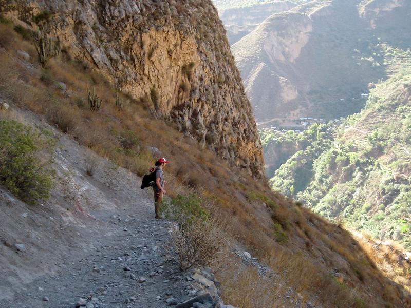 The descent into Colca Canyon - Peru