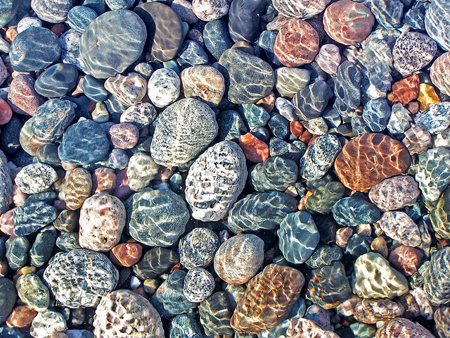 Lake Superior, Rocks, Stones, Water, Ripples