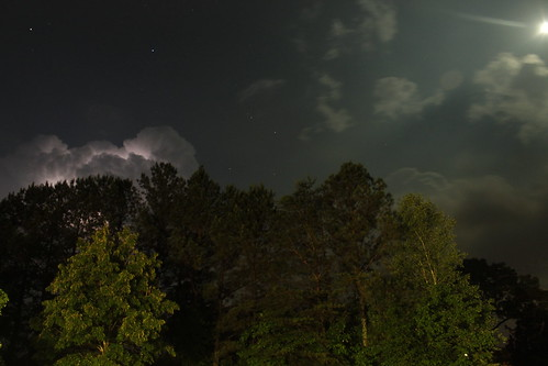lightning and moon